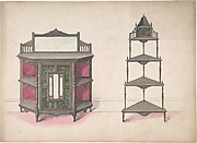 Design for a Mirrored Cabinet and a Set of Corner Shelves