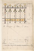 Design for an Iron Gate, Elevation and Plan