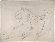 Study of a Seated Nude Male