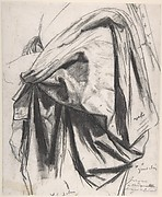 "Study for the Drapery of Molière in the ""Apotheosis of Homer"""