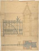 Church Gates, Elevation and Plan