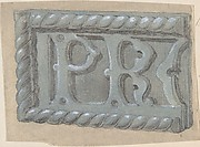 Metal Object, with Initials