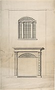 Design for a Fireplace and Window