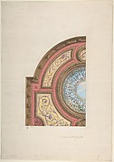 Design for Ceiling, Hôtel Cottier
