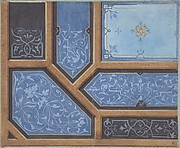 Design for Dining Room Ceiling, Ch&#226;teau de Cang&#233;