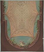 Design for Gallery Ceiling, Hôtel Cottier