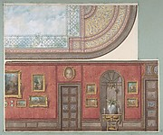 Design for Gallery Elevation and Ceiling, Hôtel Cottier