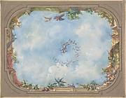 Design for Trompe l'Oeil Stairway Ceiling, Hôtel Hope
