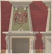 Design for Chimney Piece, Château du Duc de Meternick, Johannisburg