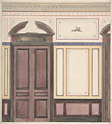 Design for Wall Paneling, Château de Deepdene
