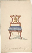 "Design for a Chair, ""For Lord Grosvenor's Drawing Room"""