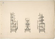 Design for Three Sets of Shelves on Casters