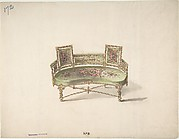Design for a Curve-backed Settee