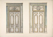 Two Designs for Doorways with Alternate Overdoor Decoration