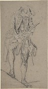 Standing Hunter Holding a Rifle