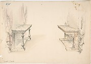 Designs for Two Marble Pier Tables with Draperies