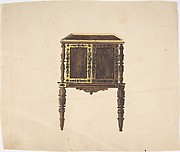 Design for a Small Cabinet with Elaborately Carved Legs