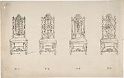 Design for Four Seventeenth Century Style Chairs