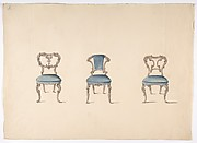 Design for Three Chairs Upholstered in Blue