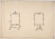 Design for Two Tabletop Mirrors with Military Ornament