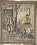 Woman and Child on Stairs