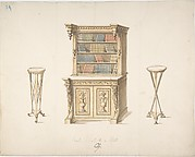Design for a Bookcabinet and Two Pedestals