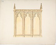 Design for a Gothic Paneling