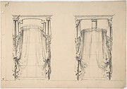 Design for Fringed Curtains Hanging at Two Windows