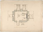 Plan and Elevations of a Room
