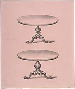 Design for Two Round-topped Pedestal Tables