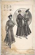 Designs for Three Women's Dresses