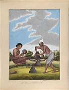 A Potter in Balabar Cast, from Indian Trades and Castes