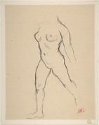 "Study for ""Action in Chains (Monument to Louis-Auguste Blanqui)"" or ""Île de France (Woman Walking in Water)"", 1905-07"