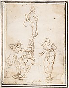 Four Figures Studies, One of a Standing Archer