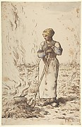 A Woman Burning Weeds
