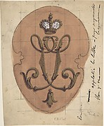 Design for a Monogram Surmounted by a Crown