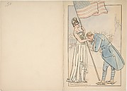 French Soldier Kissing the Hand of America