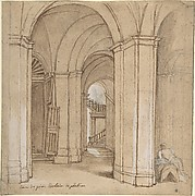 Staircase in the Palazzo Barberini, Palestrina