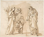 Return of the Holy Family from Egypt (recto); Studies for the Return from Egypt (verso)