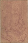 Study for a Three-Quarter-Length Portrait of a Gentleman (recto), Study of a Clothed Figure and a Foot (verso)