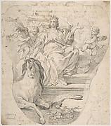 Design for Panel:  Allegorical Figure of Europe