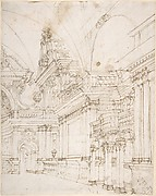 Sketch of a Palace Interior.