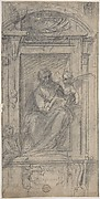 Saint Matthew Seated in a Niche