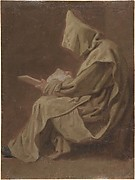 Seated Carthusian Holding an Open Book