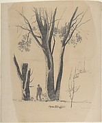 Study of Man between Trees