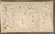 Four Studies of Nude Men