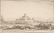View of Motrone Castle (before its demolition around 1692)