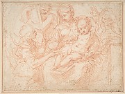 The Holy Family with Angels Bearing Symbols of the Passion