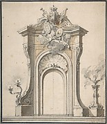 Design for Festival Architecture for an Entry into Paris for the King of Sweden, Frederick I of Hesse