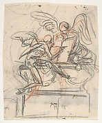 Design for a sepulchral monument with an allegory of Time; verso: Design for a column
